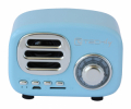 Radio Speaker Bluetooth Wireless, Design Radio Classico, azzurro